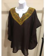 Chevron Top - Brown