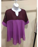 Chevron Top - Purple