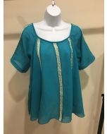 Chevron Top - Teal