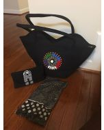 Purse with Matching Wallet & Scarf - Black
